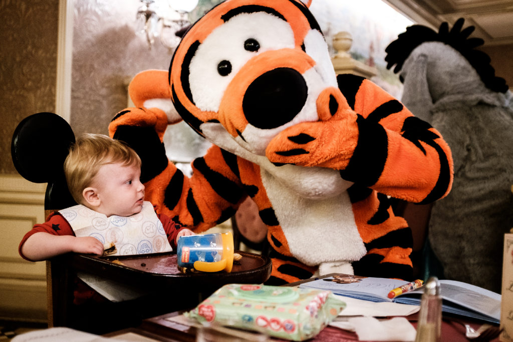 Tigger with a member of the My Disney Holiday Family